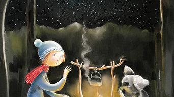 Fireside Stories wall art print