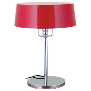 French Pierre Chareau Red Table Lamp