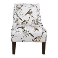 Swoop Arm Chair, Carys Ink, Birdwatcher Charcoal