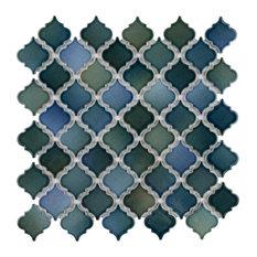 "SomerTile Hudson Tangier 12-3/8""x12-1/2"" Porcelain Floor and Wall Mosaic Tile"