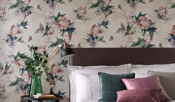 Madama Butterfly Ivory Wallpaper
