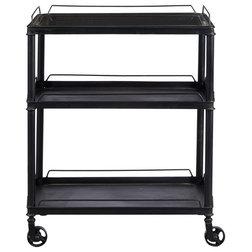 Industrial Bar Carts by HomeFare
