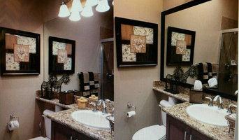 Frame existing bathroom mirrors