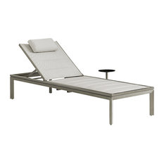 Tommy Bahama Del Mar Patio Chaise Lounger In Platinum Gray
