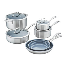 ZWILLING Spirit 3-ply 10-Piece Stainless Steel Ceramic Nonstick Cookware Set