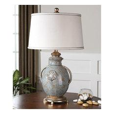 Uttermost Cancello Glaze Lamp, Blue