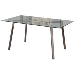 GDF Studio Verna Tempered Glass Dining Table