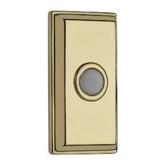 Rectangular Bell Button, Lifetime Brass
