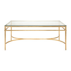 Safavieh Abelard Cocktail Table Antique Gold