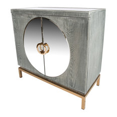 Statements by J - Toretto Accent Cabinet With Gold Legs - Accent Chests and Cabinets
