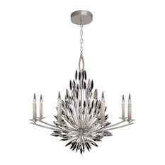 """Lily Buds Chandelier, Silver, 41""""x40.5"""""""