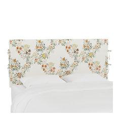 Bern Queen Slipcover Headboard With Ties Lucinda Floral Harvest
