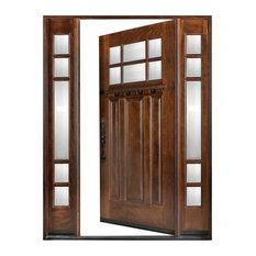 """Exterior Front Wood Door M31 1D+2SL 12""""-36""""x80"""", Right Hand Swing In"""