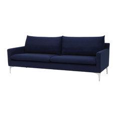 Nuevo Living Anders Three Seater, Navy Blue