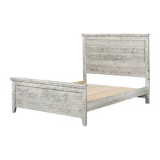 South Shore Furniture - Lionel Bed Set, Queen, Seaside Pine - Panel Beds