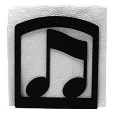 Wrought Iron Musical Note Napkin Holder