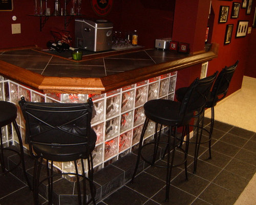 Glass Block Bar Ideas Pictures Remodel And Decor