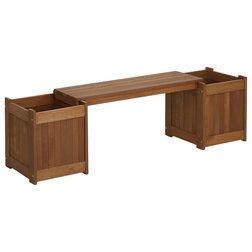 Transitional Outdoor Benches by Furinno