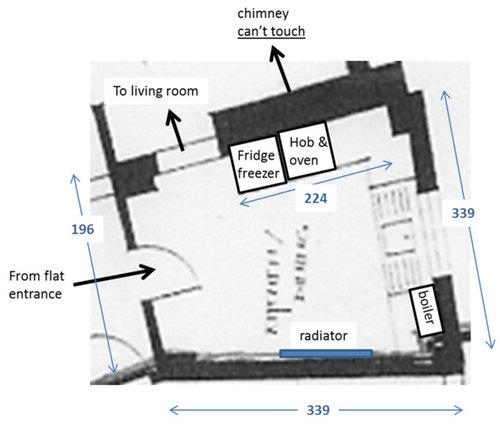 VERY odd shaped kitchen - HELP | Houzz UK
