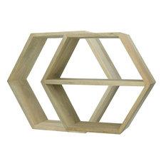 Graphik Hexagonal Wall Shelves, Set Of 2