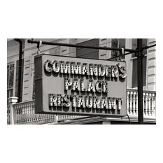 Commanders Palace Restaurant Retro Sign New Orleans LAcBlack & White Photography