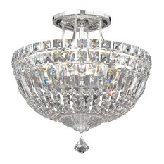 Petit Crystal Deluxe 6-Light Close to Ceiling in Silver, Clear Spectra Crystal