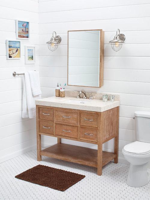 Newcastle 42 Vanity In Vintage Honey Bathroom Vanities And Sink Consoles