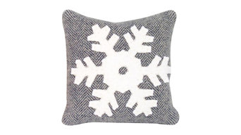 Snowflake Balsam Pillow, Gray