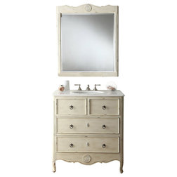 Simple Traditional Bathroom Vanities And Sink Consoles Cottage Daleville Bathroom Sink Vanity With Matching Mirror Cream