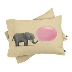 Deny Designs Terry Fan Jumbo Bubble Gum Pillow Shams, Queen