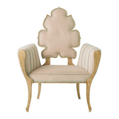 Sculpted Pearl White Cushioned Arm Chair, Midcentury Wiggle Side Velvet