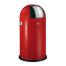 Wesco Pushboy Junior Bin, 22 Litres, Red