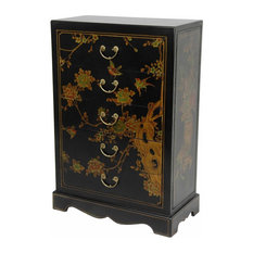 oriental furniture black lacquer five drawer chest dressers asian style furniture korean antique style 49
