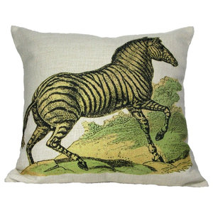 Gerta And The Reindeer Throw Pillow Case Traditional Decorative Pillows By Golden Hill Studio