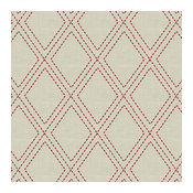 Red Stitched Diamond Trellis Fabric