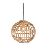National hanging lamp natural bamboo - Cane Ball 40