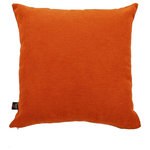 Yorkshire Fabric Shop - Rachel Scatter Cushion, Orange, 45x45 Cm - The chenille cover of this scatter cushion features a soft woolen texture as well as an attractive solid colouring, making for a piece that both looks and feels elegant. Place the 45-by-45-centimetre orange Rachel Scatter Cushion on a bed or sofa to transform the atmosphere of an entire room. From deep within the UK, the family-run Yorkshire Fabric Shop produces upholstery fabrics and a wide range of cushions for homes across the world.