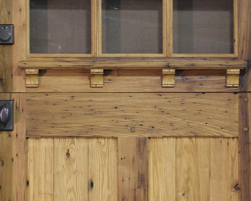 Zander Woodworks   Chestnut Dutch Door   Detail   Front Doors