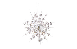 Bubbles Brushed Nickel Chandelier