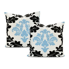 "Deauville Printed Cotton Cushion Cover, Set of 2, 20""x20"""