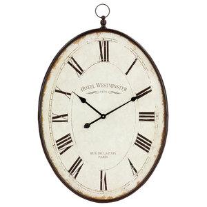 Sonia Oval Wall Clock Farmhouse Wall Clocks By