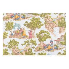 """Mandarin Toile Fabric, Sky, 53""""x36"""""""