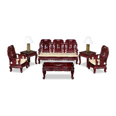 6 piece living room set. China Furniture and Arts  Chinese Rosewood Grand Imperial Elephant Living Room 6 Piece Set Asian Sets Houzz