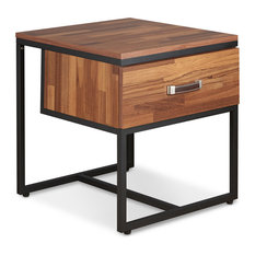 Parquet Collection End Table, Walnut