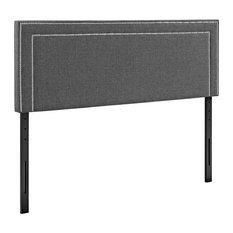 Jessamine King Upholstered Fabric Headboard Gray
