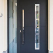 Modern Front Entry Door with a Sidelite