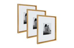 Calter Wall Picture Frame Set, Gold 16x20 matted to 8x10