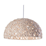 1 Light Honey Wicker Ceiling Pendant, Natural