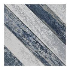 "SomerTile 9.75""X9.75"" Cassis Sete Porcelain Floor and Wall Tile, Blue"