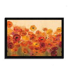 """Summer Poppies"" By Silvia Vassileva, Framed Painting Print, Ready To Hang"